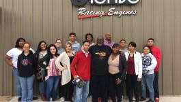 Justice Alma Wilson Seeworth Acadamy visits Tombo Racing